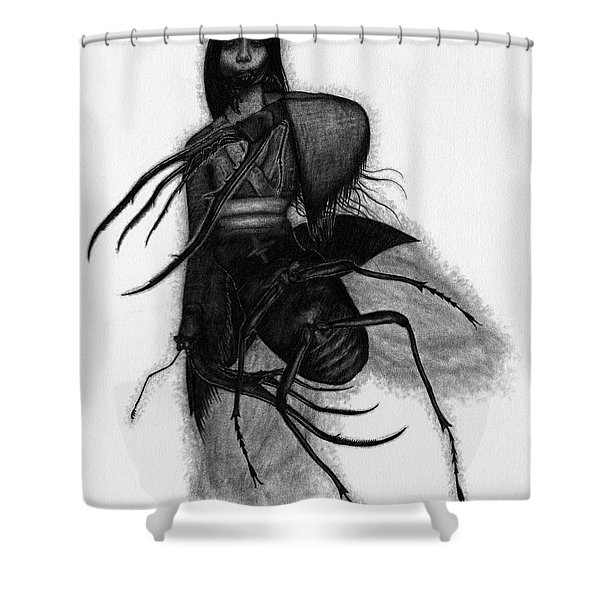 Kuchisake-onna The Slit Mouthed Woman Ghost - Artwork Shower Curtain