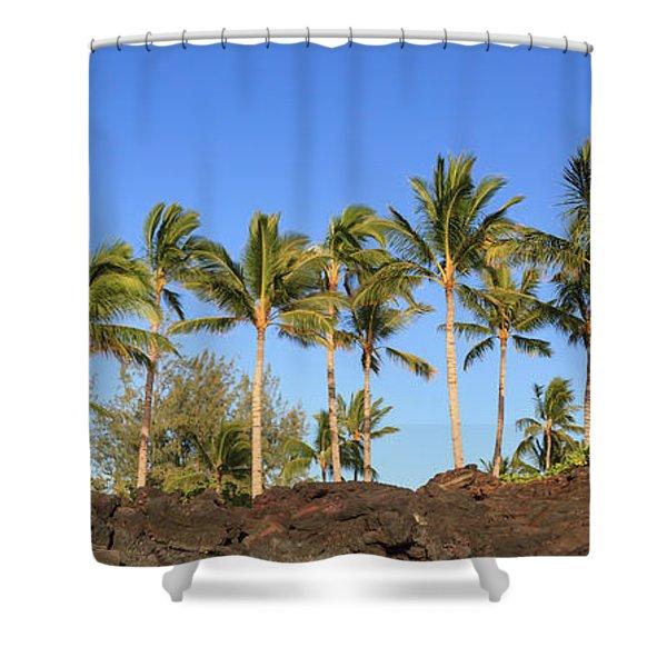 Golden Palms Shower Curtain