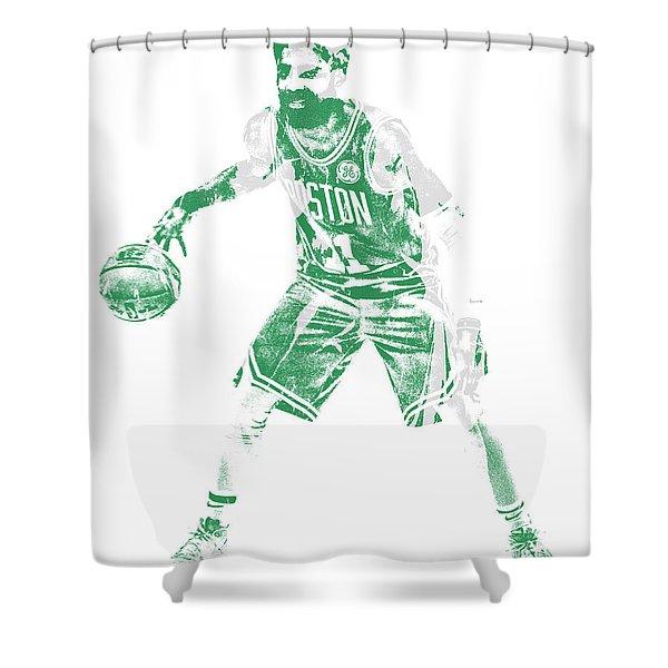 Kyrie Irving Boston Celtics Pixel Art 72 Shower Curtain