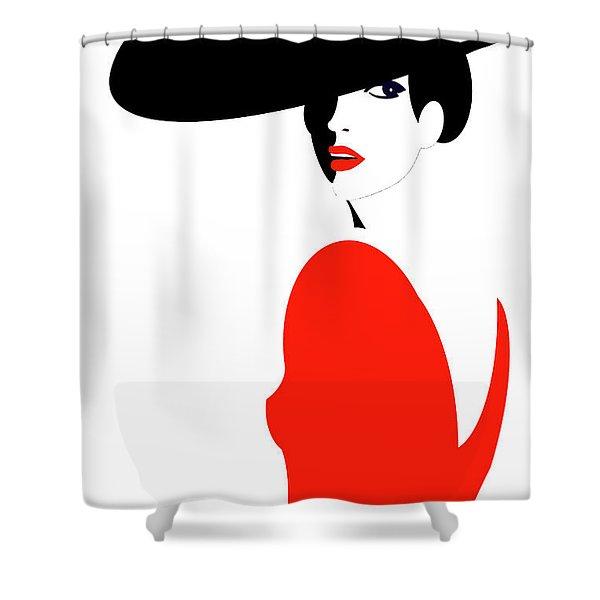 La Belle Dame 1 Shower Curtain