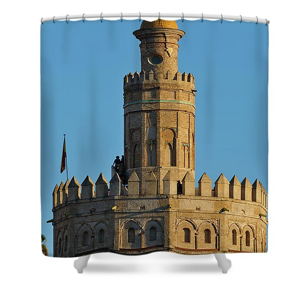 La Torre De Oro Detail. Seville Shower Curtain