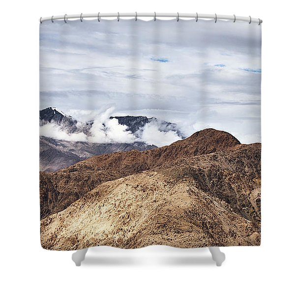 Shower Curtain featuring the photograph Ladakh Peaks by Whitney Goodey
