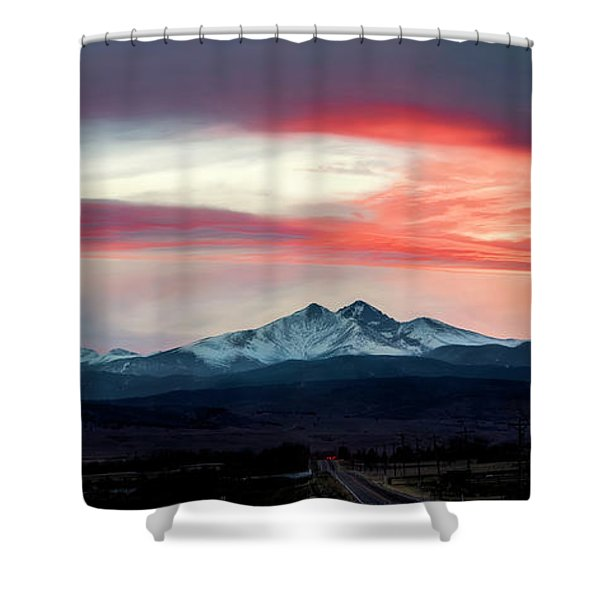 Ladies In The Sky Winter Sunset Shower Curtain