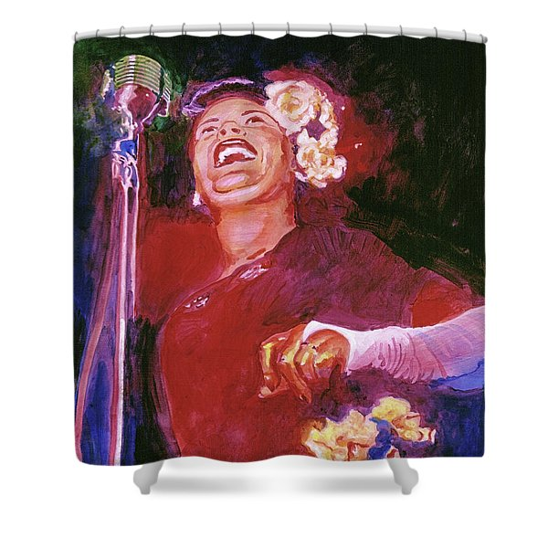 Lady Day - Billie Holliday Shower Curtain