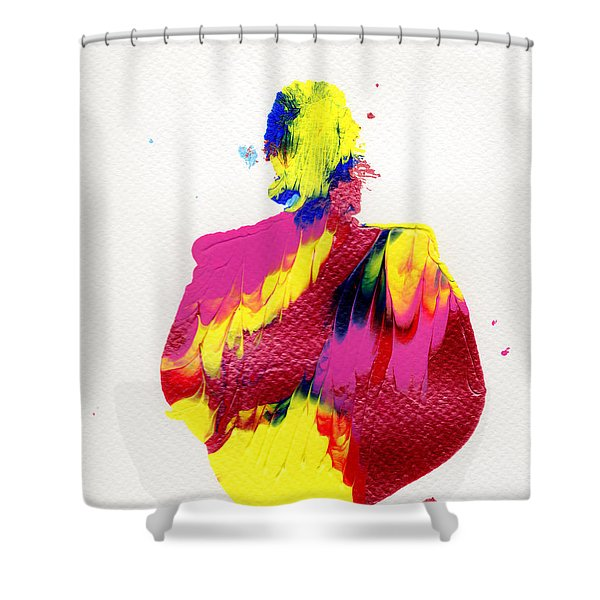 Lady Dressed In A Ballroom Gown Shower Curtain