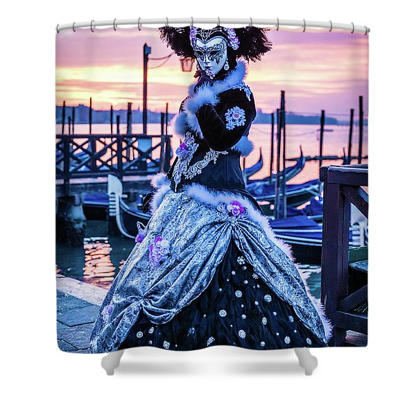 Lady In Black Shower Curtain