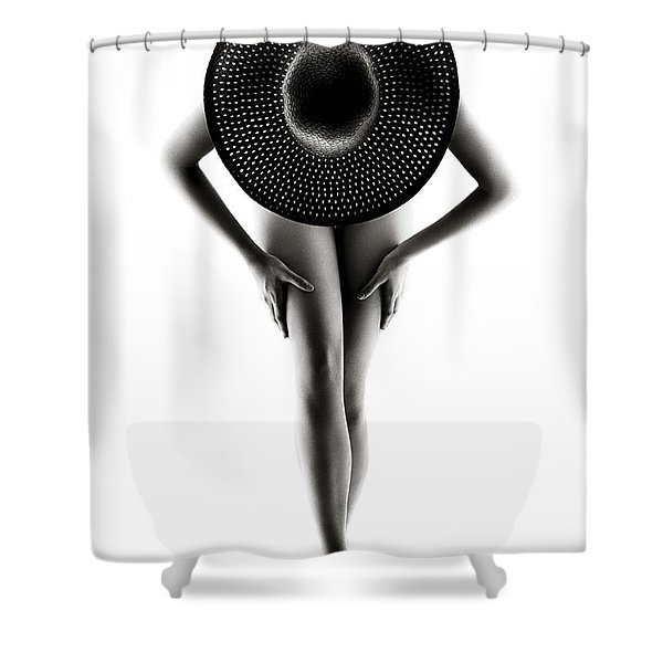 Lady With A Hat Shower Curtain