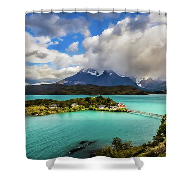 Lago Pehoe, Chile Shower Curtain
