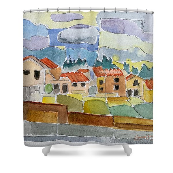Laguna Del Sol Sky Design Shower Curtain