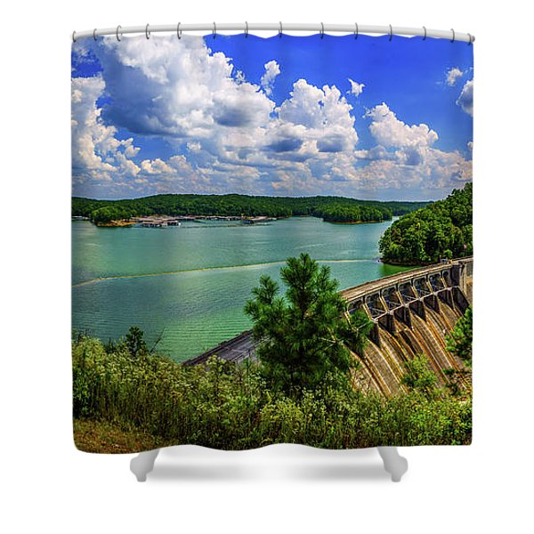 Lake Allatoona Dam Shower Curtain