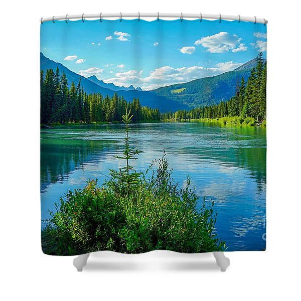 Lake At Banff Indian Trading Post Shower Curtain