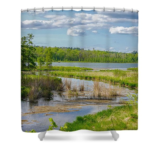 Lake Itasca Beauty Shower Curtain