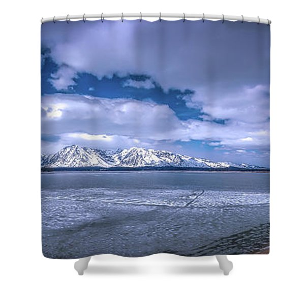 Lake Jackson Wyoming Shower Curtain
