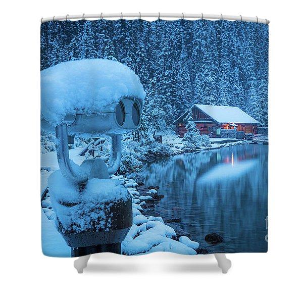 Lake Louise Winter Morning Shower Curtain