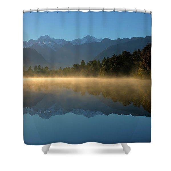 Lake Matheson Morning Shower Curtain
