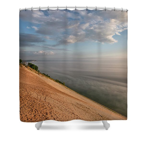 Shower Curtain featuring the photograph Lake Michigan Overlook 11 by Heather Kenward