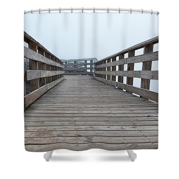 Shower Curtain featuring the photograph Lake Michigan Overlook 16 by Heather Kenward