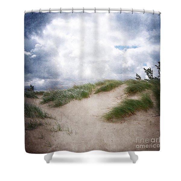 Lake Michigan Sand Dunes Shower Curtain