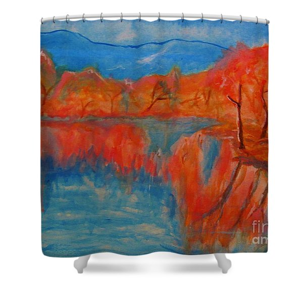 Lake Mirror Shower Curtain