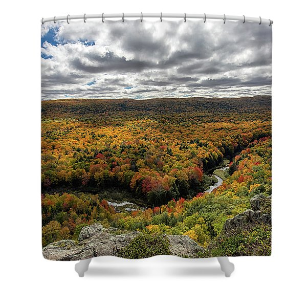 Shower Curtain featuring the photograph Lake Of The Clouds 10 by Heather Kenward