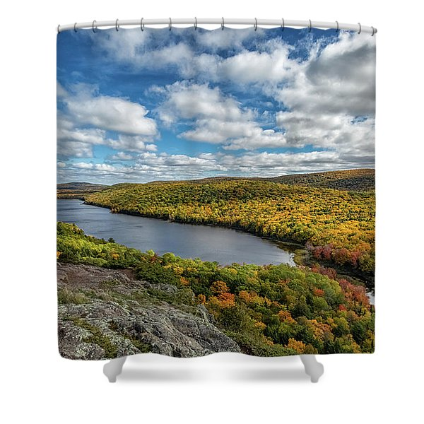 Shower Curtain featuring the photograph Lake Of The Clouds 2 by Heather Kenward