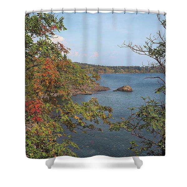 Lake Superior Autumn Shower Curtain