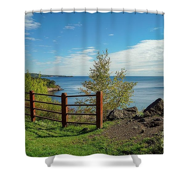 Lake Superior Overlook Shower Curtain
