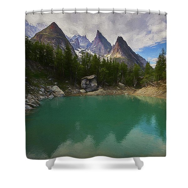 Lake Verde In The Alps II Shower Curtain