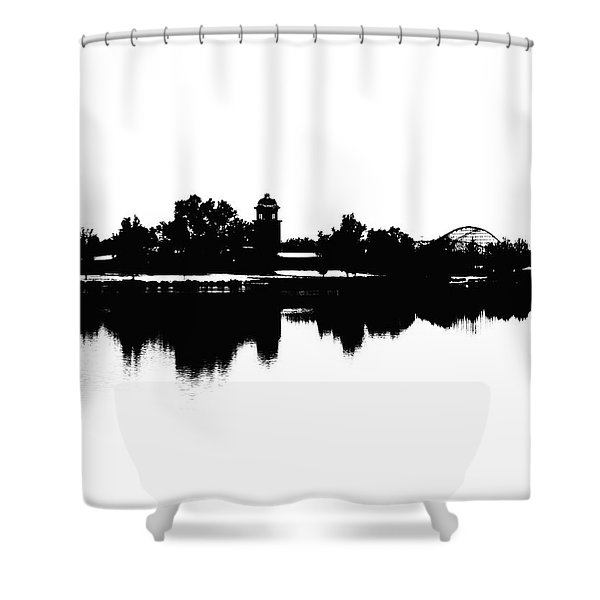 Lakeside Silhouette Shower Curtain