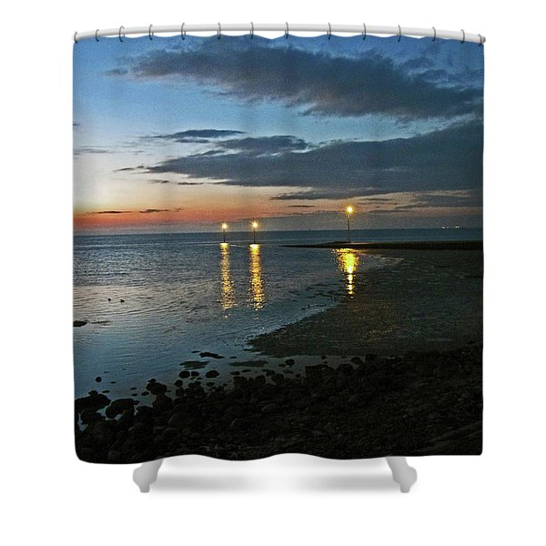 Lancashire. Knott End. Sunset.. Shower Curtain