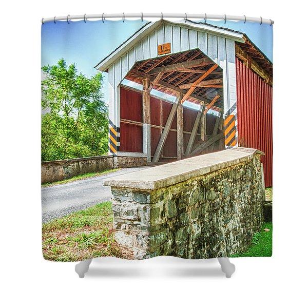Lancaster Covered Bridge Shower Curtain