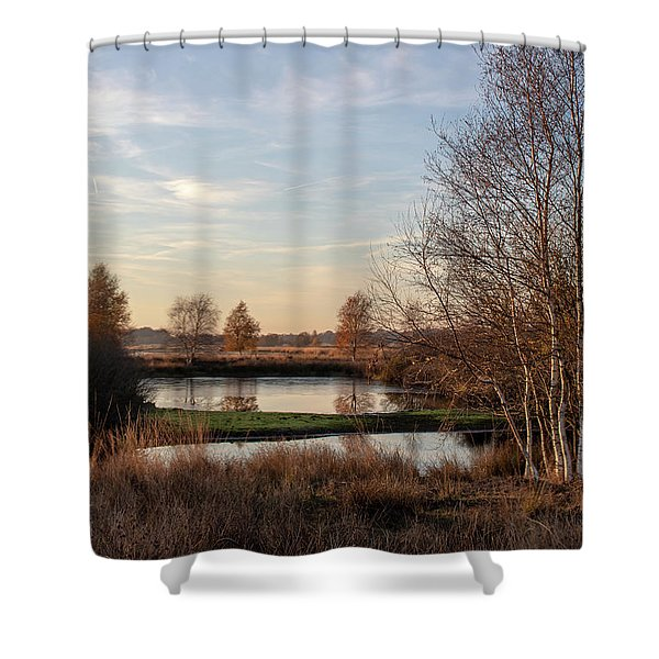 Shower Curtain featuring the photograph Landscape Scenery by Anjo Ten Kate