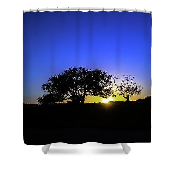 Last Light Texas Hill Country Paradise Canyon Sunset 8053a1 Shower Curtain