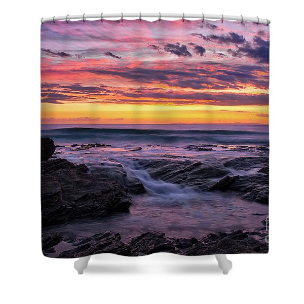 Last Sunset Of 2018 Shower Curtain