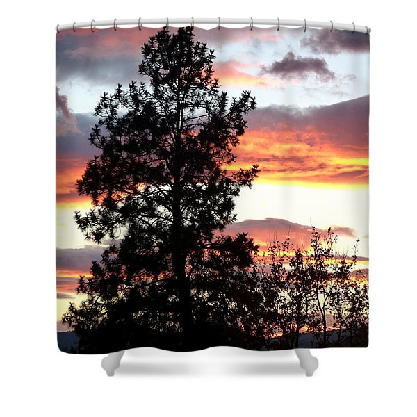 Late October Silhouettes Shower Curtain