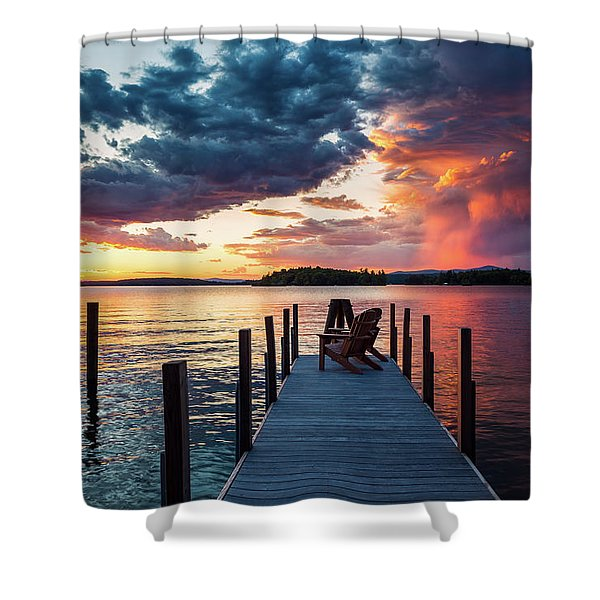 Shower Curtain featuring the photograph Late Summer Storm. by Jeff Sinon