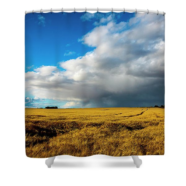 Late Summer Storm With Tornado Shower Curtain