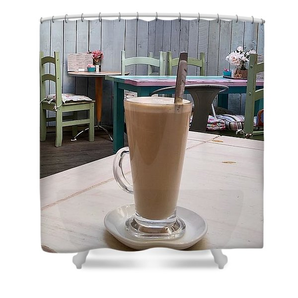 Latte Time Shower Curtain