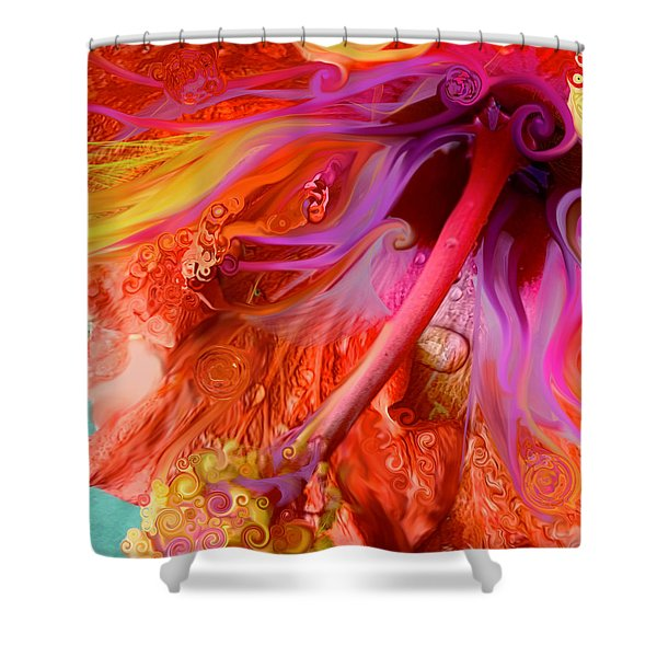 Laughing Hibiscus Shower Curtain