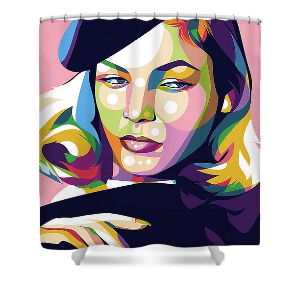 Lauren Bacall Shower Curtain