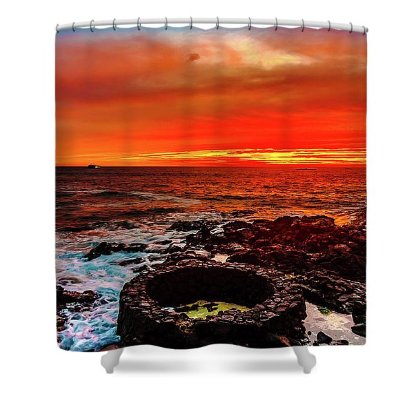 Lava Bath After Sunset Shower Curtain