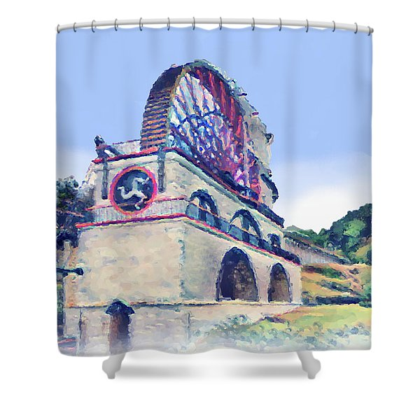 Laxey Wheel 6 Shower Curtain