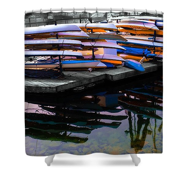 Layers And Layers By The Water Shower Curtain