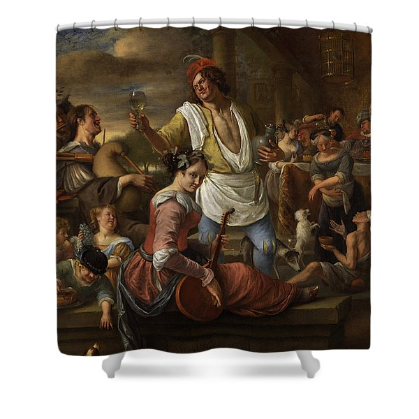 Lazarus And The Rich Man, In Luxury Beware Shower Curtain