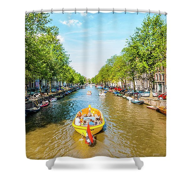 Lazy Sunday On The Canal Shower Curtain