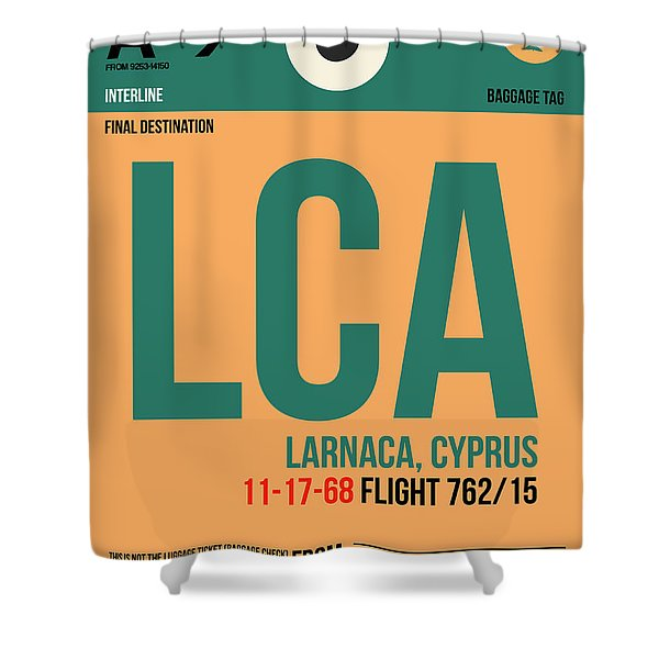 Lca Cyprus Luggage Tag I Shower Curtain