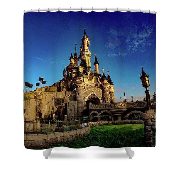 Le Chateau De La Belle Au Bois Dormant Shower Curtain