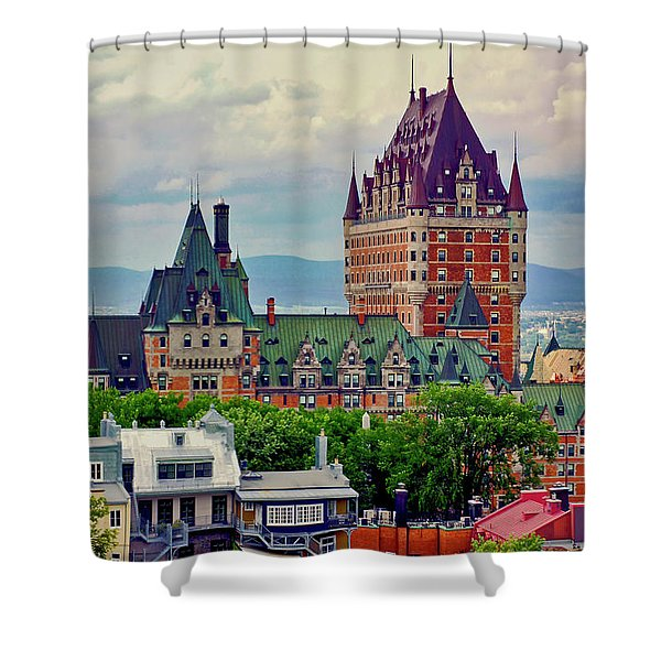 Shower Curtain featuring the photograph Le Chateau Frontenac by Meta Gatschenberger