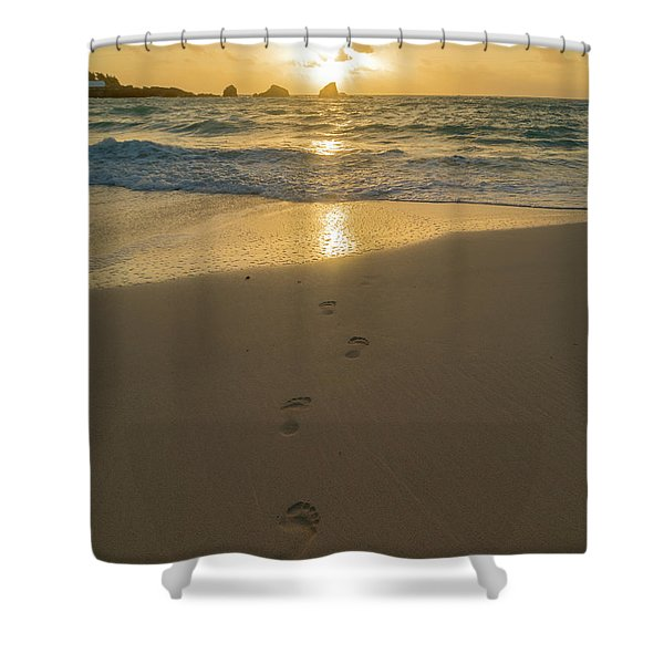 Leading To The Light Coastal Sunrise Shower Curtain