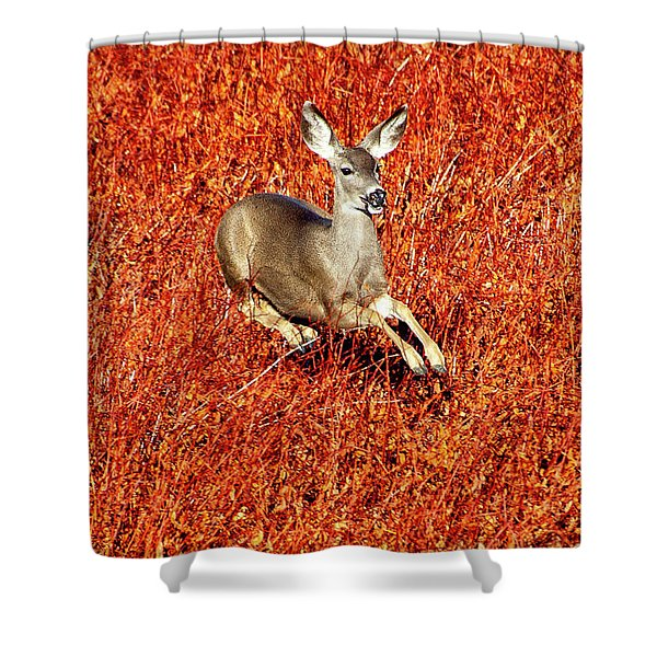 Leaping Deer Shower Curtain